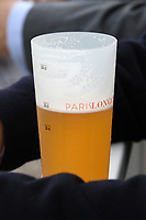 LONGCHAMP, FRANCE - October 06, 2018: Logo of Paris Longchamp on a glas