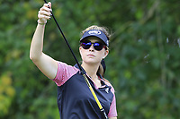 Paula Creamer (USA) on the 13th tee during Thursday's Round 1 of The Evian Championship 2018, held at the Evian Resort Golf Club, Evian-les-Bains, France. 13th September 2018.<br /> Picture: Eoin Clarke | Golffile<br /> <br /> <br /> All photos usage must carry mandatory copyright credit (© Golffile | Eoin Clarke)