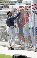 Boston Red Sox Butch Hobson signs autographs during spring training circa 1992 at Dunedin Stadium in Dunedin, Florida.  (MJA/Four Seam Images)