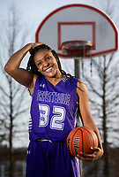 NWA Democrat-Gazette/JASON IVESTER<br /> Jasmine Franklin of Fayetteville; Division I girls player of the year; photographed on Wednesday, March 15, 2017, outside Jones Center in Springdale for All-NWADG Team