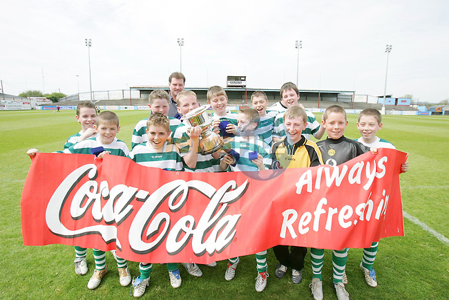 Kentstown Green winners in the Under 11 Cup Final in the Drogheda Concentrates Sponsored DDSL.Photo NEWSFILE/FRAN CAFFREY..(Photo credit should read FRAN CAFFREY/NEWSFILE)...This Picture has been sent you under the condtions enclosed by:.Newsfile Ltd..the Studio,.Millmount Abbey,.Drogheda,.Co Meath..Ireland..Tel: +353(0)41-9871240.Fax: +353(0)41-9871260.GSM: +353(0)86-2500958.email: pictures@newsfile.ie.www.newsfile.ie.FTP: 193.120.102.198..This picture is from Fran Caffrey@newsfile.ie