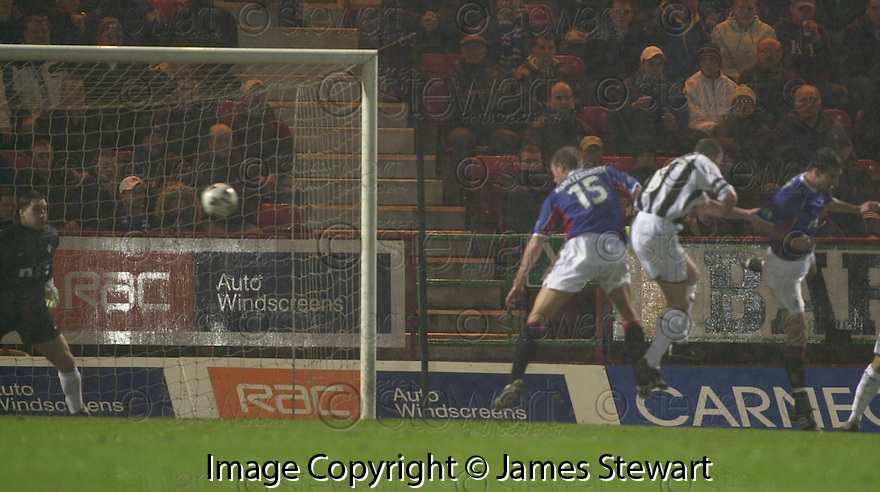 23/01/2002                 Copyright Pic : James Stewart .Ref :     .File Name : stewart-dunf v rangers 01.SCOTT THOMSON SCORES THE FIRST GOAL.James Stewart Photo Agency, Stewart House, Stewart Road, Falkirk. FK2 7AS      Vat Reg No. 607 6932 25.Office     : +44 (0)1324 630007     .Mobile  : + 44 (0)7721 416997.Fax         :  +44 (0)1324 630007.E-mail  :  jim@jspa.co.uk.If you require further information then contact Jim Stewart on any of the numbers above.........