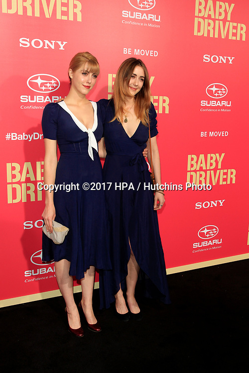 "LOS ANGELES - JUN 14:  Yvonne Zime, Madeline Zima at the ""Baby Driver"" Premiere at the The Theater at Ace Hotel on June 14, 2017 in Los Angeles, CA"