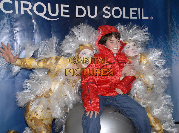 "NOAH GALVIN, VINCENT DUBE & SEBASTIEN TARDIF.Cirque du Soleil, MSG Entertainment and BASE Entertainmennt present a sneak peek of the latest Cirque du Soleil seasonal show ""Wintuk"" at the WaMu Theater at Madison Square Garden, New York, New York , USA, .18 September 2007..half length.CAP/ADM/BL.©Bill Lyons/AdMedia/Capital Pictures. *** Local Caption ***"