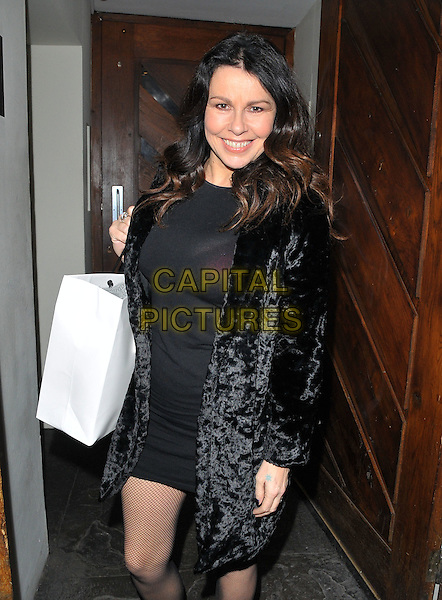 Julie Graham attends the TBSeen.com new celebrity-curated lifestyle shopping platform press launch, Soho House, Old Compton Street, Soho, London, UK, on Monday 04 January 2016.<br /> CAP/CAN<br /> &copy;CAN/Capital Pictures