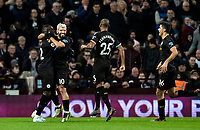 Manchester City's Sergio Aguero (2nd left) celebrates scoring his side's third goal <br /> <br /> Photographer Andrew Kearns/CameraSport<br /> <br /> The Premier League - Aston Villa v Manchester City - Sunday 12th January 2020 - Villa Park - Birmingham<br /> <br /> World Copyright © 2020 CameraSport. All rights reserved. 43 Linden Ave. Countesthorpe. Leicester. England. LE8 5PG - Tel: +44 (0) 116 277 4147 - admin@camerasport.com - www.camerasport.com