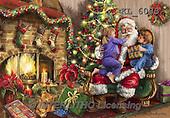 Interlitho, CHRISTMAS SANTA, SNOWMAN, WEIHNACHTSMÄNNER, SCHNEEMÄNNER, PAPÁ NOEL, MUÑECOS DE NIEVE, paintings+++++,santa, kids, fireplace,KL6083,#X# ,Marcello