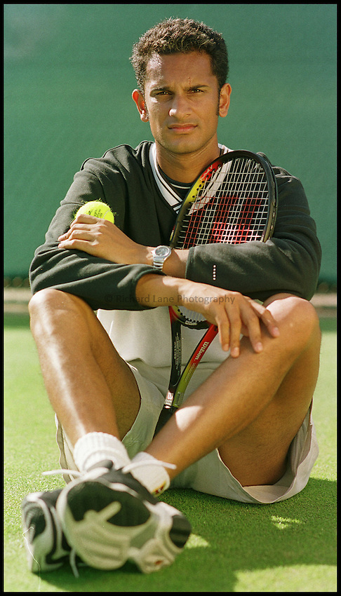 Photo: Phil Brown .Arvind Parmar, British Tennis Player at Nottingham.