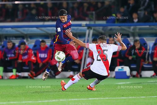 Neymar (Barcelona), <br /> DECEMBER 20, 2015 - Football / Soccer : <br /> FIFA Club World Cup Japan 2015 <br /> Final match between River Plate 0-3 Barcelona  <br /> at Yokohama International Stadium in Kanagawa, Japan.<br /> (Photo by Yohei Osada/AFLO SPORT)