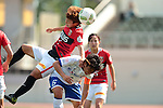 (L to R) <br /> Shiho Kohata (Reds Ladies), <br /> Maiko Nasu (Iga FC Kunoichi), <br /> MAY 7, 2016 - Football / Soccer : <br /> Plenus Nadeshiko League 2016 <br /> between Urawa Reds Ladies 1-0 Iga FC Kunoichi <br /> at Saitama Urawa Komaba Stadium in Saitama, Japan. <br /> (Photo by AFLO SPORT)