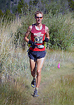 August 20, 2016 - Leadville, Colorado, U.S. -  Denver, Colorado runner, Kyle Pietari #2, looks strong as he reaches the base of the climb to Hope Pass during the Blueprint for Athletes Leadville Trail 100, Leadville, Colorado.  Considered one of the most challenging endurance races in the world, ultra distance runners will navigate high altitude trails, challenging river crossings, and a variety of changing weather with an elevation gain of more than 18,000 feet ranging from 9200 feet near Twin Lakes to 12,600 feet atop the high point of Hope Pass.
