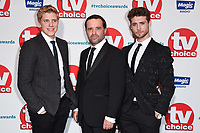 Ryan Hawley, Andrew Scarborough and Ned Porteous<br /> at the TV Choice Awards 2018, Dorchester Hotel, London<br /> <br /> ©Ash Knotek  D3428  10/09/2018