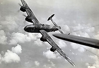 BNPS.co.uk (01202 558833)<br /> Pic:  DavidLay/BNPS<br /> <br /> Stunning picture of a Halifax on a raid over Europe.<br /> <br /> Bomber command heroes WW2 exploits discovered in a shoebox.<br /> <br /> The personal effects of a fearless 'Tail-end Charlie' have been discovered in a shoebox - and they include a charming set of photos of his wartime service.<br /> <br /> Flight Sergeant Douglas Alexander, of 460 Squadron, took part in nearly 40 bombing raids over Germany, including the famous assault on Hitler's mountain retreat, Berchtesgaden.<br /> <br /> As a tail gunner, he sat in a tiny glass turret at the rear of Lancaster and Halifax bombers - a terribly exposed position.<br /> <br /> The shoebox, containing his bravery medals, logbooks and photos, was bought into auctioneer David Lay Frics, of Penzance, Cornwall, by his daughter.<br /> <br /> Flt Sgt Alexander's medal group includes the prestigious Distinguished Flying Medal, awarded for 'exceptional valour, courage and devotion to duty', with his photos capturing the camarederie which existed in the RAF as the airmen risked their lives on every mission to defeat Adolf Hitler.