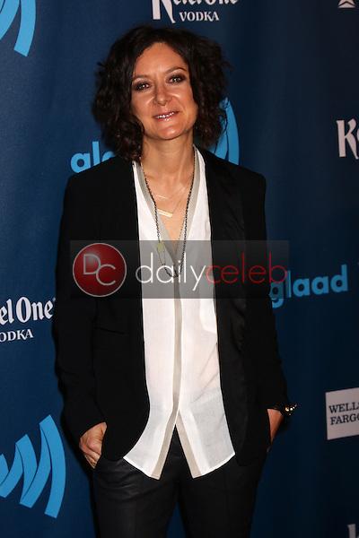 Sara Gilbert<br /> at the 24th Annual GLAAD Media Awards, JW Marriott, Los Angeles, CA 04-20-13<br /> David Edwards/DailyCeleb.Com 818-249-4998