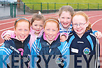 Having fun at the Farranfore/Maine Valley AC open sports day in Castleisland on Sunday were l-r: Sarah Murphy, Caoimhe O'Shea, Laura Murphy, Ellen Hickey and Laura Quinn all Farranfore/Maine Valley   Copyright Kerry's Eye 2008