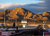 Oct 30, 2016; Las Vegas, NV, USA; Overall view of the mountains as the sun sets following the NHRA Toyota Nationals at The Strip at Las Vegas Motor Speedway. Mandatory Credit: Mark J. Rebilas-USA TODAY Sports