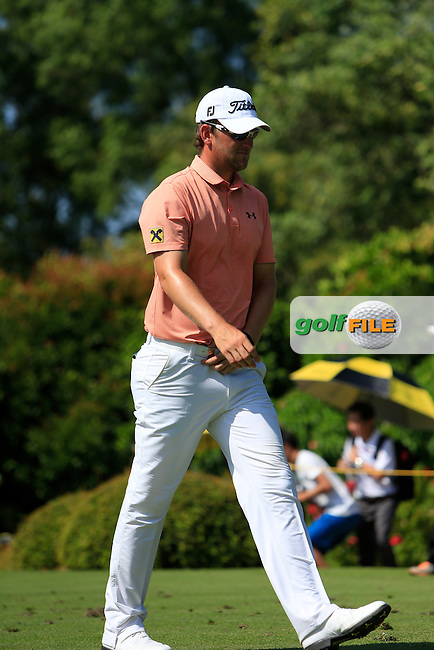 Bernd Wiesberger (AUT) on the 4th tee during Round 4 of the Maybank Malaysian Open at the Kuala Lumpur Golf &amp; Country Club on Sunday 8th February 2015.<br /> Picture:  Thos Caffrey / www.golffile.ie