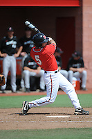 Rutgers University Scarlet Knights infielder Nick Favatella (5) during a game against the University of Cincinnati Bearcats at Bainton Field on April 19, 2014 in Piscataway, New Jersey. Rutgers defeated Cincinnati 4-1.  (Tomasso DeRosa/ Four Seam Images)