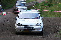 Alexander Curran / David McGeoch at Junction 6, on Special Stage 1 Craigvinean in the Colin McRae Forest Stages Rally 2012, Round 8 of the RAC MSA Scotish Rally Championship which was organised by Coltness Car Club and based in Aberfeldy on 5.10.12.