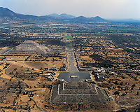 aerial photograph of Teotihuacan, Mexico