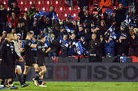 Bath Rugby supporters in the crowd. Heineken Champions Cup match, between Stade Toulousain and Bath Rugby on January 20, 2019 at the Stade Ernest Wallon in Toulouse, France. Photo by: Patrick Khachfe / Onside Images