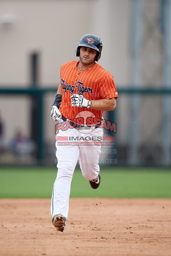 Lakeland Flying Tigers designated hitter Wade Hinkle (46) running the bases during the second game of a doubleheader against the St. Lucie Mets on June 10, 2017 at Joker Marchant Stadium in Lakeland, Florida.  Lakeland defeated St. Lucie 9-1.  (Mike Janes/Four Seam Images)