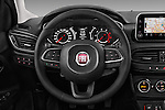 Car pictures of steering wheel view of a 2016 Fiat Tipo Lounge 5 Door Hatchback Steering Wheel