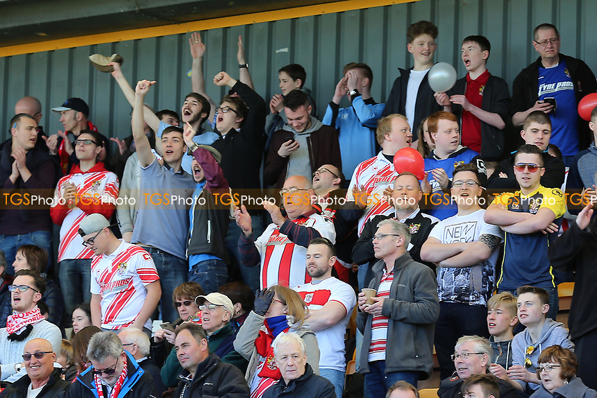 Stevenage fans during Cambridge United vs Stevenage, Sky Bet EFL League 2 Football at the Cambs Glass Stadium on 25th March 2017