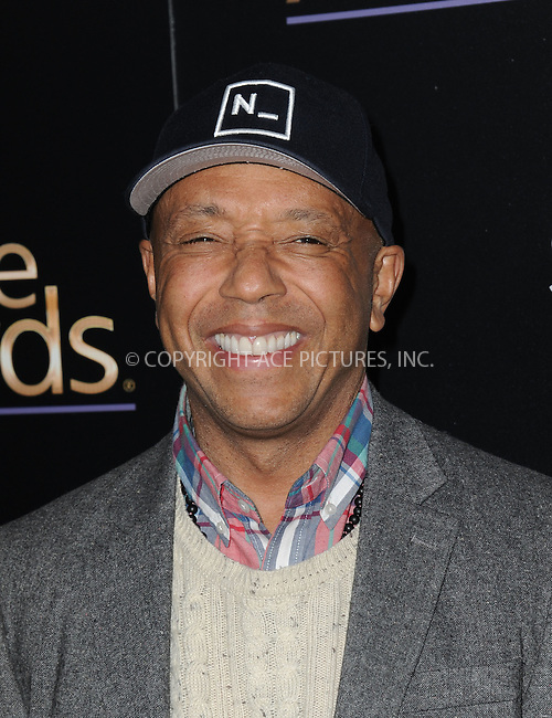 WWW.ACEPIXS.COM<br /> <br /> February 27 2015, LA<br /> <br /> Russell Simmons arriving at the 3rd Annual Noble Awards at The Beverly Hilton Hotel on February 27, 2015 in Beverly Hills, California.<br /> <br /> <br /> By Line: Peter West/ACE Pictures<br /> <br /> <br /> ACE Pictures, Inc.<br /> tel: 646 769 0430<br /> Email: info@acepixs.com<br /> www.acepixs.com