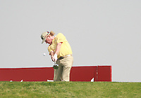 Miguel Angel Jimenez (ESP) in action on the 3rd tee during Saturday's Round 3 of the HSBC Golf Championship at the Abu Dhabi Golf Club, United Arab Emirates, 28th January 2012 (Photo Eoin Clarke/www.golffile.ie)