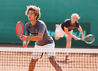 August 13, 2014, Netherlands, Raalte, TV Ramele, Tennis, National Championships, NRTK,  Mens doubles: Sebastiaan Bonapart/Botic van de Zandschulp(L) (NED)<br /> Photo: Tennisimages/Henk Koster
