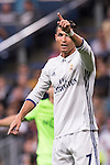 Cristiano Ronaldo of Real Madrid reacts during their 2016-17 UEFA Champions League match between Real Madrid vs Sporting Portugal at the Santiago Bernabeu Stadium on 14 September 2016 in Madrid, Spain. Photo by Diego Gonzalez Souto / Power Sport Images
