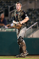 Catcher Luke Lowery (17) of Cosby High School participates in the Team One Futures Game East at Roger Dean Stadium in Jupiter, Florida September 25, 2010..  Photo By Mike Janes/Four Seam Images