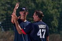 Baseball - MLB Academy - Tirrenia (Italy) - 19/08/2009 - Aliaksei Lukashevich (Belarus), Bruce Hurst