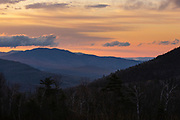 Sunrise from the Kancamagus Highway (route 112), which is one of New England's scenic byways located in the White Mountains, New Hampshire USA