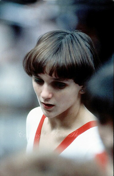 November 23, 1981; Moscow, Soviet Union; Artistic gymnast Emilia Eberle of Romania portrait on side lines  at 1981 World Championships in Moscow..(©) Copyright 1981 Tom Theobald