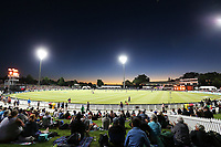 General view of Seddon Park. New Zealand Blackcaps v England. One Day International Cricket. Seddon Park, Hamilton, New Zealand on Sunday 25 February 2018.<br /> <br /> Copyright photo: &copy; Bruce Lim / www.photosport.nz