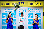 Caleb Ewan (AUS) Lotto-Soudal wears the first young riders White Jersey at the end of Stage 1 of the 2019 Tour de France running 194.5km from Brussels to Brussels, Belgium. 6th July 2019.<br /> Picture: ASO/Alex Broadway | Cyclefile<br /> All photos usage must carry mandatory copyright credit (© Cyclefile | ASO/Alex Broadway)