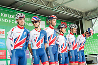 Picture by Allan McKenzie/SWpix.com - 04/09/2017 - Cycling - OVO Energy Tour of Britain - Stage 2 Kielder Water to Blyth - Great Britain team at sign on.