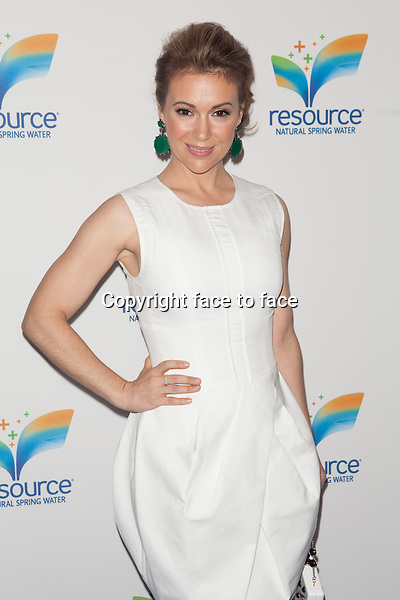 NEW YORK, NY - JUNE 5: Alyssa Milano attends Nestle Waters North America National Launch of Resource Natural Spring Water at Pier 36 on June 5, 2013 in New York City. <br /> Credit: MediaPunch/face to face<br /> - Germany, Austria, Switzerland, Eastern Europe, Australia, UK, USA, Taiwan, Singapore, China, Malaysia, Thailand, Sweden, Estonia, Latvia and Lithuania rights only -