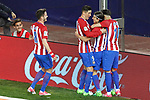 Atletico de Madrid's Saul Niguez, Fernando Torres, Filipe Luis and Yannick Ferreira Carrasco celebrate goal during La Liga match. April 4,2017. (ALTERPHOTOS/Acero)