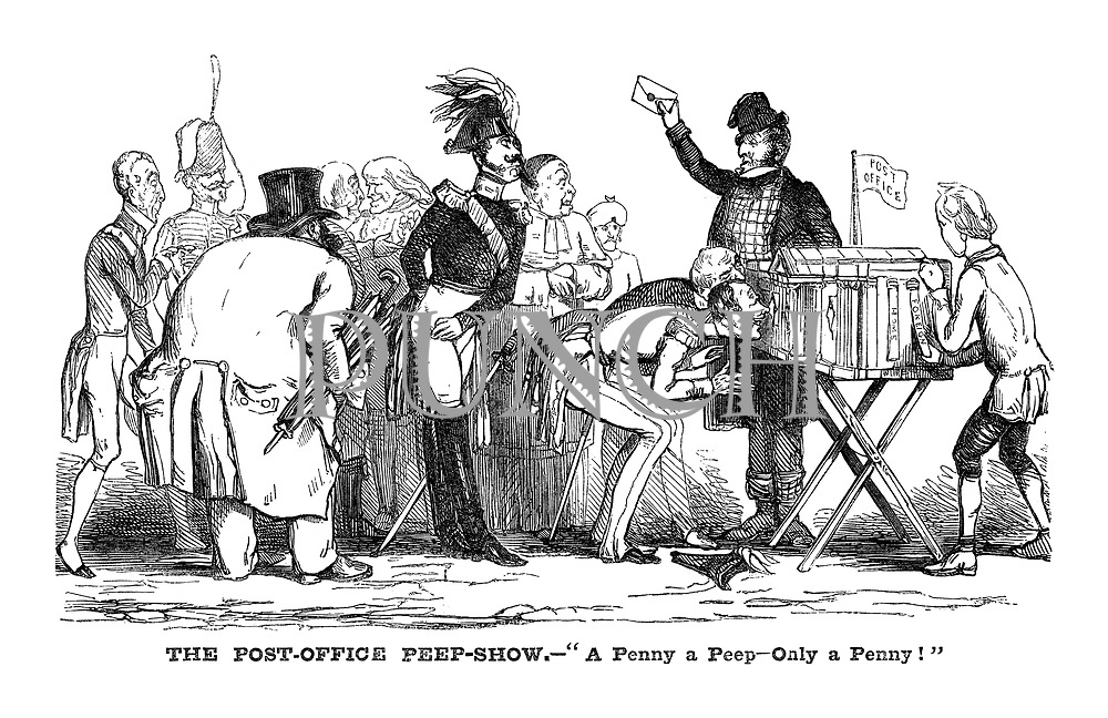 The Post Office Peep Show Punch Magazine Cartoon Archive