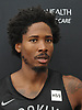 Ed Davis #17 of the Brooklyn Nets speaks with the media after team practice held at the HSS Training Center in Brooklyn, NY on Tuesday, Sept. 25, 2018.