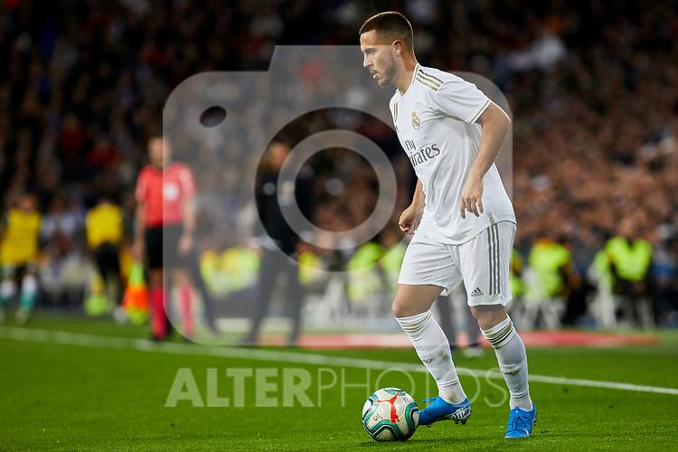 Eden Hazard of Real Madrid during La Liga match between Real Madrid and Real Betis Balompie at Santiago Bernabeu Stadium in Madrid, Spain. November 02, 2019. (ALTERPHOTOS/A. Perez Meca)