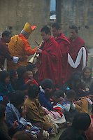 Small Village Buddhist Ceremony near Trongsa, Bhutan