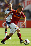 Calcio, Serie A: Roma vs Bologna. Roma, stadio Olimpico, 16 settembre 2012..AS Roma midfielder Alessandro Florenzi in action during the Italian Serie A football match between AS Roma and Bologna at Rome's Olympic stadium, 16 september 2012..UPDATE IMAGES PRESS/Isabella Bonotto