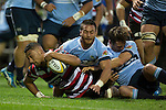 Jimmy Tupou gets taken to ground just short of the tryline. The game of Three Halves, a pre-season warm-up game between the Counties Manukau Steelers, Northland and the All Blacks, played at ECOLight Stadium, Pukekohe, on Friday August 12th 2016. Photo by Richard Spranger.
