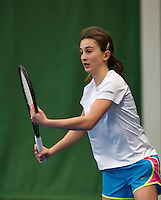 Almere, Netherlands, December 6, 2015, Winter Youth Circuit, Charlotte Haas (NED)<br /> Photo: Tennisimages/Henk Koster