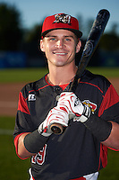 Batavia Muckdogs second baseman Sutton Whiting (49) poses for a photo before a game against the Williamsport Crosscutters on September 2, 2016 at Dwyer Stadium in Batavia, New York.  Williamsport defeated Batavia 9-1. (Mike Janes/Four Seam Images)
