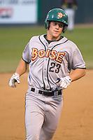 July 19, 2007: Boise Hawks' Kyler Burke rounds third base after blasting a home run against the Everett AquaSox in a Northwest League game at Everett Memorial Stadium in Everett, Washington.